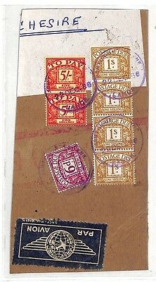 AT214 Postage Due To Pay Stamps 1966 Lancashire {samwells-covers}PTS