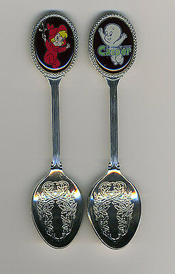 Casper the Friendly Ghost and Wendy 2 Silver Plated Spoons Casper and Wendy