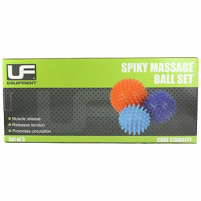 UFE Acupressure Trigger Point Spiky Massage Balls 3 Pack Stress Reflexology