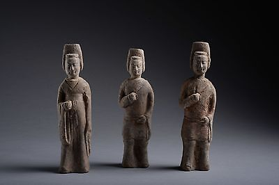 Three Ancient Chinese Northern Qi Soldiers - 550 AD