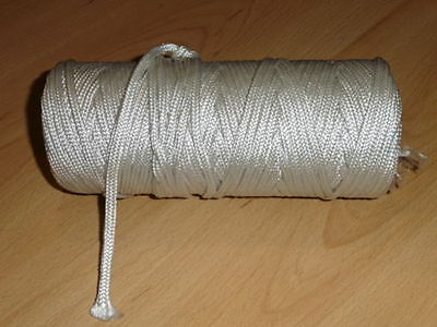 4mm Nylon Braided Natural Strong Cord Twine Rope - Choose Length 1m, 5m, 10m etc