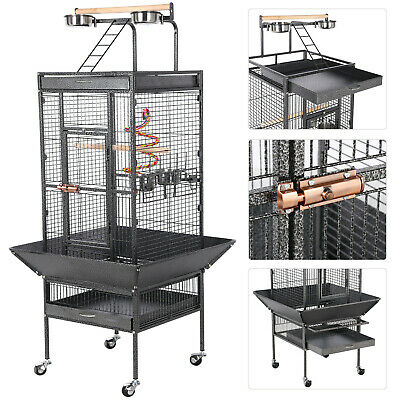 2017 Style Bird Cage Large Play Top Parrot Finch Cage Macaw Cockatoo Pet Supply
