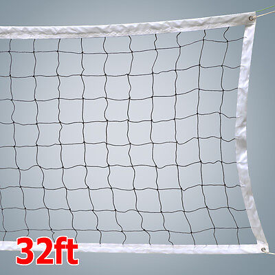 New Volleyball Net With Steel Cable Rope Official Size Outdoor Indoor USA Seller