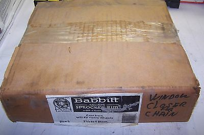 New Babbit Adjustable Sprocket Rim With Chain Guide 7-3/4 To 9 Diam. Size 2