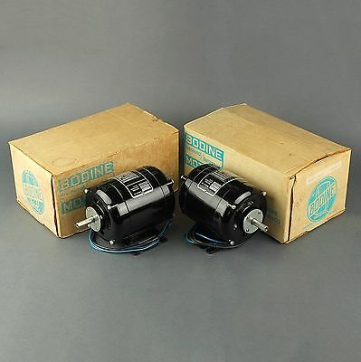2 NEW Bodine NCI-13 Fractional HP Motor, 115VAC, 1725 RPM, 1/40 HP (p/n: 240)