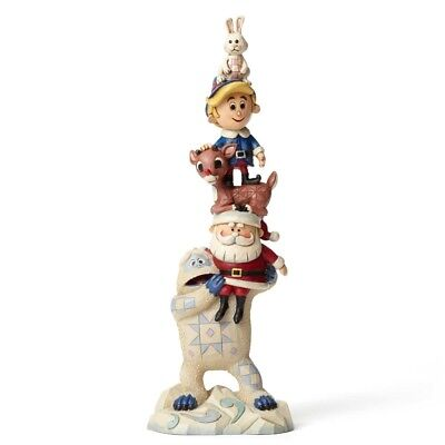 Rudolph Traditions by Jim Shore, Stacked Rudolph and Friends Figurine, 4053072