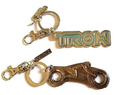 Rare 2010 Tron Metal Keychain Set - Lightcycle Disney Id Disc Toy Figure Legacy