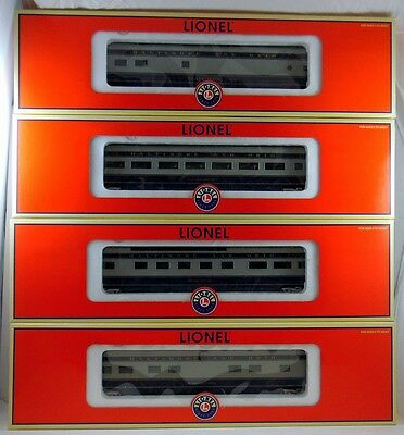 "Lionel 6-2911 ""NEW"" Baltimore & Ohio 18"" Aluminum Pass. Cars Beautiful 4 Pak Set"