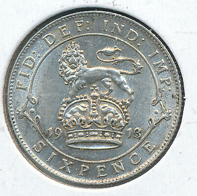 Great Britain Sixpence 1913 - XF
