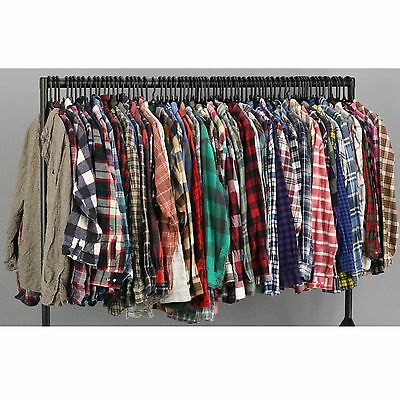Wholesale Vintage USED Clothing Joblot Flannel Shirts Checked Patterned X25