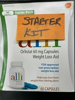 New Alli Orlistat 60 Capsules 60Mg Factory Sealed Box Exp August 2020