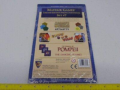 NEW Mayfair Boardgame Promo Expansion Set #13 Zip NM VILLAINY Limited Edition