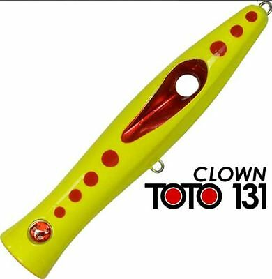 Artificiale Popper Toto 131 Col Clown Seaspin Lure Señuelo Spinning Pesca Italy