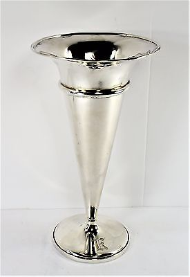 Large Flower Vase - Sterling Silver by W.FRED HIRSCH -Monogram