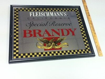 Fleischmann's beer sign brandy Special Reserve liquor bar pub old California KO1