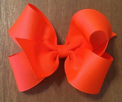 """LOT OF 20 Girl's 5 Inch HAIRBOWS Hair Bows  - 5"""" Hair bows - You Choose Colors"""