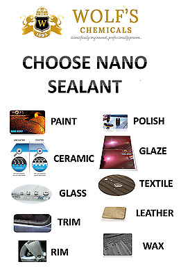 Wolf's Chemicals Nano Sealant Waterproof Ceramic Galss Trim Rim Polish Wax Coats