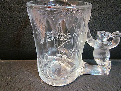 Collectible 1997 Frosted Glass THE COCA COLA COMPANY POLAR BEAR Mug Stein