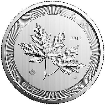 2017 $50 Silver Canadian Maple Leaf 10 oz Uncirculated In Plastic Holder