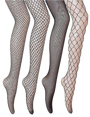 Veniroc Fishnets Stockings 4 Pairs Pantyhose Plus Size Black Tights