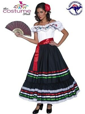 Senorita Western Costume Mexican Spanish Dancer Flamenco Spain Fancy Dress