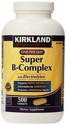 Kirkland Signature Super B-Complex, 500 Tablets, Exp10/2020