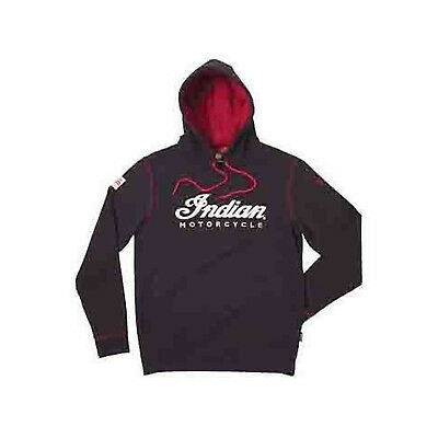 Indian Motorcycle New OEM Mens Warbonnet Hoodie, Medium (M), Black, 286369703