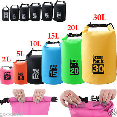 2L-30L Waterproof Dry Bag Outdoor Sport Swimming Rafting Kayaking Sailing Canoe