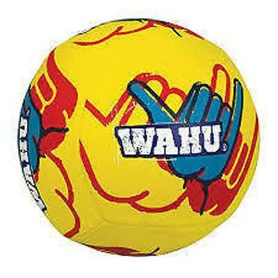 Wahu Beach Volley Ball Full Size Volleyball Genuine BMA56 Yellow w Hand Pump