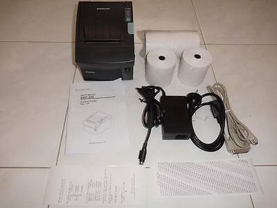 AsNew Bixolon SRP-350G Serial Thermal Receipt Docket Printer +4Rolls +WTY