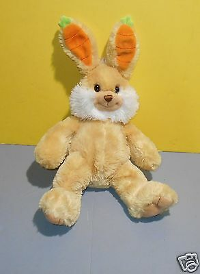 "2009 Princess Soft Toys Carrot Floppy Ears Tan Bunny Rabbit 14"" Stuffed Plush"