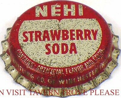1950s no bottler NEHI CHOCOLATE DRINK Cork Crown Tavern Trove
