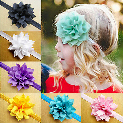 Kids Girls Baby Toddler Infant Flower Headband Hair Bow Band Hair Accessories