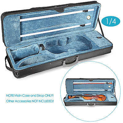 Neewer 1/4 Size Professional Oblong Shape Violin Carry Hard Case-Black