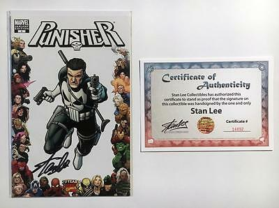 Punisher #8 Signed Stan Lee W/coa Variant Frame 70Th Anniversary