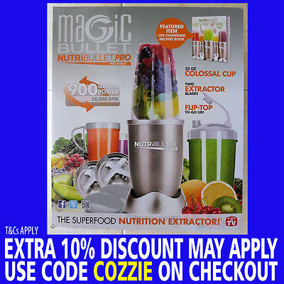 Genuine Nutribullet Pro 900W Vegetable Juicer Mixer Extractor Blender 15Pcs Set