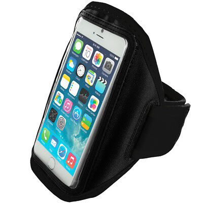 For Apple iPhone 6 Plus 5.5 Armband Gym Running Sport Arm Band Cover Case Black