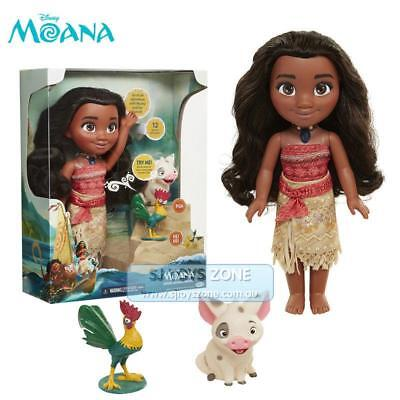 "Disney Moana 14"" Singing Adventure Movie Kids Doll Toy With Friends For Girls"