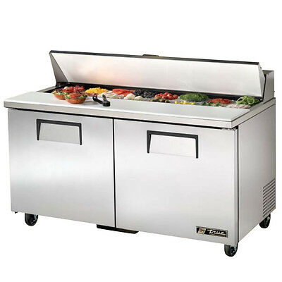 New True TSSU-60-16 Commercial Refrigerated Salad Sandwich Prep Table Cooler