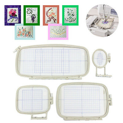 AU Embroidery Hoop Set (4 IN 1)Sewing Hoop Frame For Brother PE-750D 780D PE-770