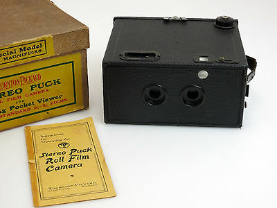 Thornton Pickard Stereo Puck Roll Film Camera + Instruction for Operating  so087