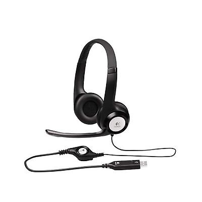 Logitech Headset H390 Usb Noise Cancelling Mic In-Line Control Pc Mac 981-000485