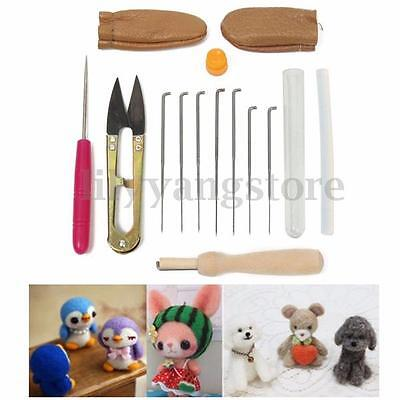 16Pcs/set Needle Felting Starter Kit Wool Felt Tools Mat + Needle + Accessories