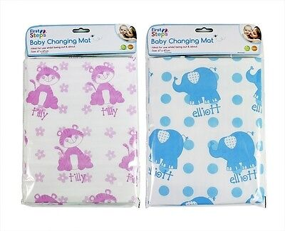 Baby Boy Girl Travel Change Changing Mat NEW Pink & Blue Wipe Clean Compact