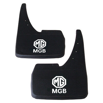 Mgb Pair Of Front Or Rear Mud Flaps With Printed Mgb Logo - Gac4008