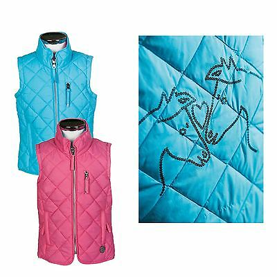 HKM Little Sister Riding Vest -Princess- Girls Padded Gilet Zipped Pockets