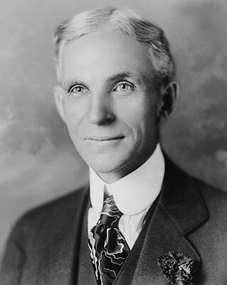 Inventor Ford Motor Co HENRY FORD Glossy 8x10 Photo Model T Print Portrait