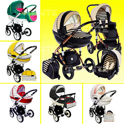 Stroller pram car seat buggy travel system 3 in1 swivel wheels kinderwagen multi