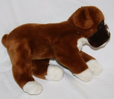 """Animal Alley BOXER DOG 12"""" Brown Plush Stuffed Soft Toy 2000 Toys R Us Animial"""