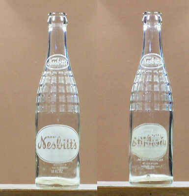 Nesbitts Old Vintage ACL 10 oz  Soda Bottle  Los Angeles California SB114 x